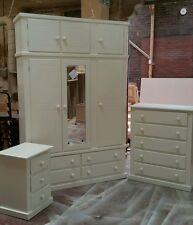 HANDMADE (IVORY) AYLESBURY BEDROOM FURNITURE SET (ASSEMBLED) NOT FLAT-PACK!!!