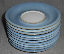 Set (10) Denby CASTILE PATTERN Saucers (NO CUPS) Made in England