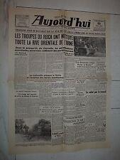 FAC-SIMILE A LA UNE JOURNAL AUJOURD'HUI 09/06 1944 DEBARQUEMENT NORMANDIE