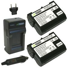 Wasabi Power Battery (2-Pack) and Charger for Nikon EN-EL15 and Nikon 1 V1 D6...