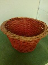 Two Tones Orange and Red Basket approx 9 x 5 x 5 Great Planter