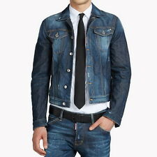 Dsquared 2 veste en jean taille 42/52 made in italy rrp £ 625