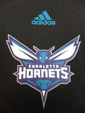 Black Charlotte Hornets NBA Adidas The Go To Tee T-Shirt Large L
