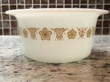 VINTAGE PYREX CORNING CORELLE BUTTERFLY GOLD PATTERN BUTTER DISH BOWL VGUC!!