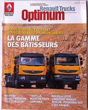 """Le Magazine Renault Trucks """"optimum"""" La Gamme des bâtisseurs"""