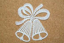Lace motif - Cristmas or Wedding bells  applique/sew on trim/craft/card making