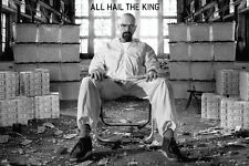 """Breaking Bad All Hail the King tv show poster 24 x 36"""" Walter surrounded by cash"""