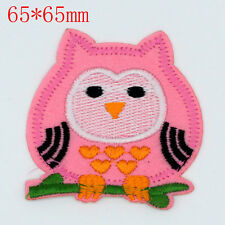 Hot sale owl Design Embroidered Cloth Iron On Patches Sewn Motif Appliques badge