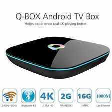 Q Box Android 4K TV BOX Amlogic S905 64bits 2GB 16GB Kodi16.0 WiFi Bluetooth