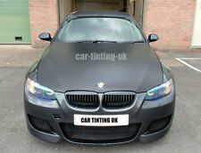 Matte Black Car Wrap Wrapping Vinyl 2x A4 Sheets Matt Black