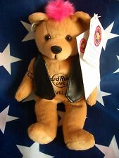 HRC Hard Rock Cafe Cleveland Punk Bear Mohawk 2009 Pink Hair Herrington