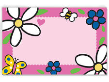 50ct. DAISIES BEES & BUTTERFLIES Floral Blank Florist Enclosure Cards Small Tags