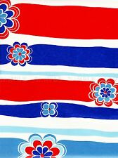 PAINTING SIMPLE ABSTRACT BOLD FLOWER POWER STRIPES RED BLUE WHITE POSTER LV2873
