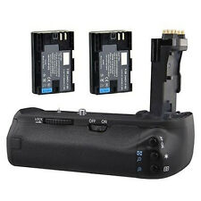 New Multi-Power Battery Grip Holder for Canon 70D 80D BG-E14 Camera + 2*LP-E6