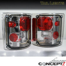 1973-1987 GMC Chevy CK C10 Series truck light smoked lens tail lights lamps (L+R
