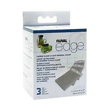 Fluval Edge Carbon Clean & Clear Renewal Sachet 3 Pack Aquarium Fish Tank