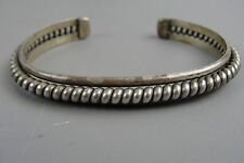 Vintage Native THAE Sterling Silver Cuff Bracelet