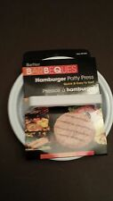 BETTER BARBEQUES HAMBURGER PATTY MAKER BURGER PRESS GROUND BEEF PRESS WHITE NEW