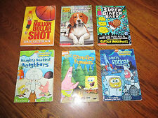 Lot of 6 Youth Paperback Books Scholastic Sponge Bob Square Pants Nickelodeon