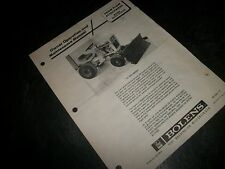 "BOLENS #18532-01&02 ""snow plow attachment"" OWNER/MAINTENANCE MANUAL!"
