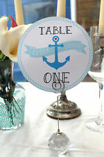 x1 'Tie the Knot Nautical Circular' table numbers