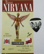 Nirvana Ticket Music History In Utero Concert Rare Memorablia Legend Kurt Cobain