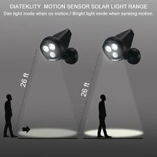 Outdoor Black Solar Motion Sensor Spot Light  36 LED Dual Security Flood Light
