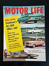 Motor Life Dec 1958 The Lark - Buick - Plymouth - The Firebird III - 1959 Cars