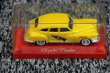 Vintage Coca Cola Chrysler Windsor Yellow 1/43 Scale Model Die Cast Car 1991