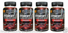 4X MUSCLETECH HYDROXYCUT HARDCORE WEIGHT LOSS 440 RAPID RELEASE CAPS FAT BURNER