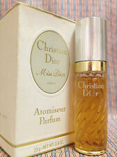 Vintage '70s Miss Dior LARGE 0.8 oz 25 ml Pure Parfum Christian Dior OLD FORMULA