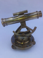 ALIDATE 6 INCH TELESCOPE WITH NAUTICAL COMPASS ANTIQUE BRASS COLLECTIBLE GIFT