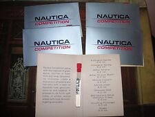 ! NAUTICA Competition Cologne for MEN 5 vials on Cards  0.05 oz 1.5 ml Lot Vials