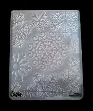 Sizzix grand 4.5x5.75in embossing folder noël flocons de neige s'adapte cuttlebug