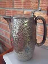 Arts & Crafts 19thC Silver Plated Jug or Hot Water Pot Lightly Hammered 1864-93