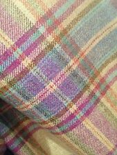 TRADITIONAL WOOL TARTAN TWEED FABRIC WOVEN IN SCOTLAND -70CM X 50CM Purple/Blue