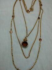 Runway statement vtg. Goldette intaglio cameo triple strands necklace