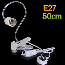 On off Switch E27 Lamp Holder Socket Light Flexible Power Cable Cord 50cm w/Clip