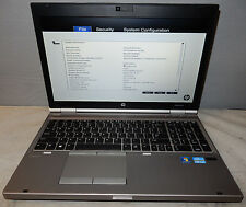 "HP ELITEBOOK 8570P 15.6"" LAPTOP INTEL i7-3520M 2.90GHz 4GB RAM 320GB HDD"