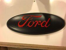 """2004-2014 Ford explorer 9"""" MATTE BLACK/ RACE RED Tailgate or Grille emblem F-150"""