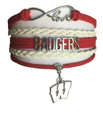 University of Wisconsin Badgers College Infinity Bracelet Fan Shop Jewelry