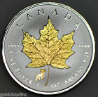 Gold Gilded 2015 Canadian Sheep Privy Maple Leaf 1 oz Silver Coin Reverse Proof