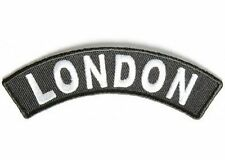 "LONDON UK British England White Black 4"" x 1.5"" Rocker Biker Vest Patch PAT-2936"