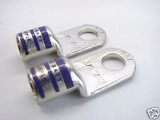 "2 Thomas Betts BAL3012  Battery Cable Terminals 1/2""Stud Hole 3/0AWG Purple b176"