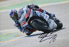 Loris Baz Hand Signed 12x8 Photo Avintia Racing Ducati 2016 MOTOGP 4.