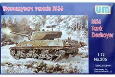 UNIMODELS 206 1/72 M36 Tank Destroyer