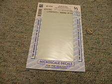 Microscale  decals HO 87-1121 Norfolk Southern diesel frame stripes 1991+   P1