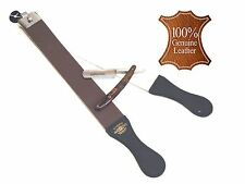 MENS PROFESSIONAL OLD SCHOOL STRAIGHT RAZOR SHAPING STROP KIT EXCELLENT