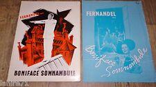 fernandel BONIFACE SOMNAMBULE  ! louis de funes dossier presse cinema 1950