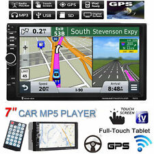 "GPS Navigation HD 7"" 2 Din Car MP3 MP5 Player Radio Touch Bluetooth USB/TF/FM/TV"